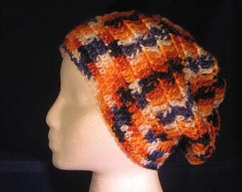 orange, white and navy slouchy