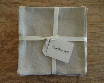 2 Linen/Cotton Napkins, Oatmeal, White, Table Linens, Set of 2, Linen Cotton Napkins, Dinner Napkins Cloth