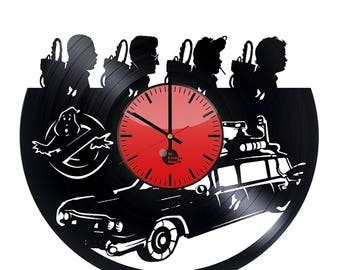 Ghostbusters Vinyl Record Wall Clock Home Decor
