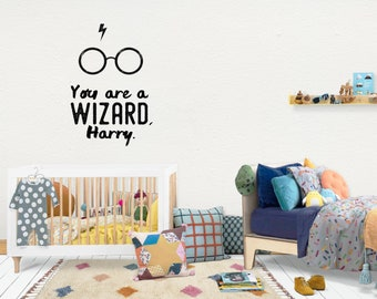 Harry Potter / Wall Vinyl Decal Sticker / Nursery Baby Toddler Kid Children Room / Decor Decoration / Gift Present / Baby shower Birthday