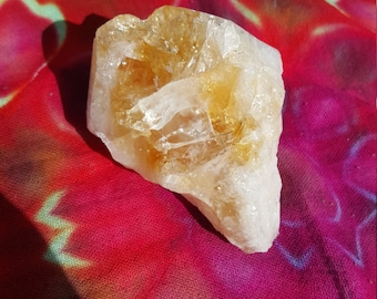 Large Raw, Natural Citrine Crystal Point