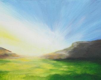Sunrise over the plain