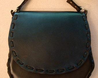 Norma Handmade Black Leather Crossbody Bag - Shoulder Bag - Purse - Handbag