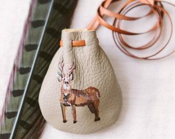 Deer Totem Talisman Pouch