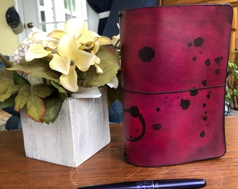 B6 Basic Leather Traveler's Notebook Cover: Antique Rose