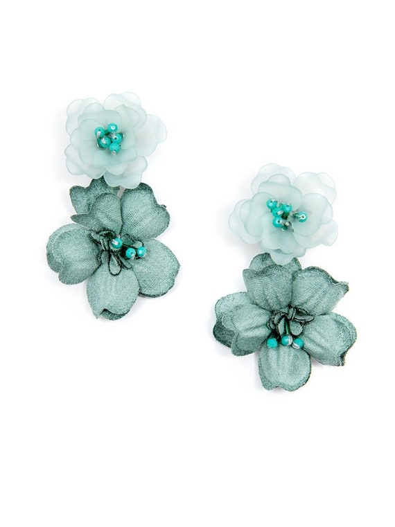 Bella Floral Drop Statement Earring