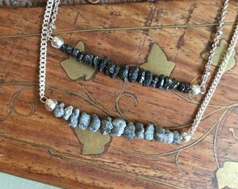 Genuine raw diamond choker/necklace