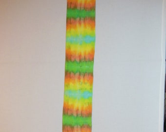 Scarf, Hand dyed scarf, OOAK