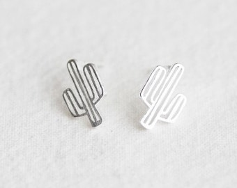 Cactus earrings, Small cactus earrings, Tiny cactus earrings