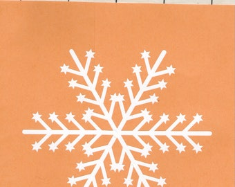 Snowflake vinyl decal