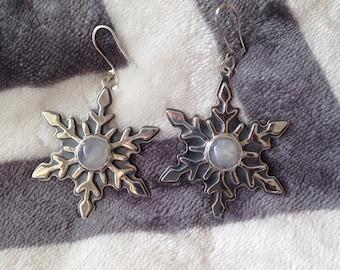 moonstone winter earrings