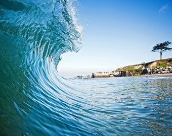 Ocean Surf Wave California Photography Print