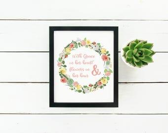 Quote Print, Inspirational Print, Wall Art, Boho Prints, Digital Prints