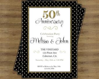 Th wedding anniversary invitations th anniversary