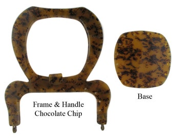 Plastic Purse Frame & Handle With Base - Style FR 12