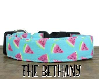 Watermelon Dog Collar, Summer Dog Collar, Girl Dog Collar, Beach Dog Collar, Watermelon Collar, Cute Girl Dog Collar, Girly Collar, Summer