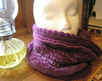 Lacy cowl - lightweight infinity scarf