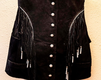 Western Cowgirl Womens Leather Vest