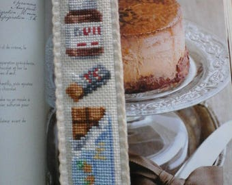 embroidered in cross stitch bookmarks