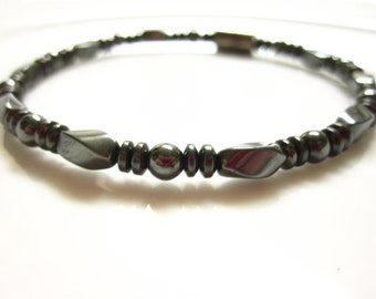 Magnetic Hematite Bracelet, High Power Magnetic Bracelet With Magnetic Clasp