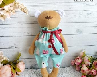 Bear - Bear Plush  - Stuffed bear - Teddy bear - Art doll - Baby bear - Plushie bear - BEAR toy - bear doll - soft bear