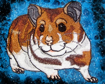 Cute Hamster Iron on Patch Sew on patch applique