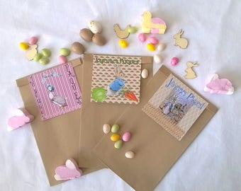 "3 Easter ""our little friends"" gift bags"