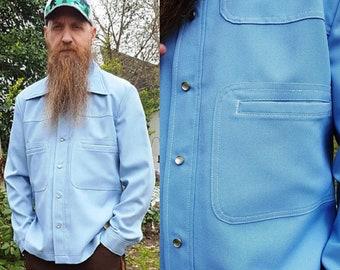 Mens Jacket, 70s Jacket, Vintage Jacket, Lee, New with Tags, New Old Stock, Shirt Jacket, Western Jacket, Vintage Costume, Blue Jacket