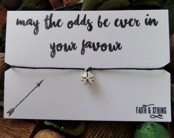 Hunger Games Gift Lucky Charm Friendship Bracelet