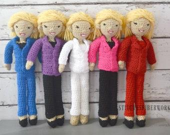 Hillary Clinton, Hillary Clinton Doll, Feminist Doll, Resist, Custom Crochet Hillary Clinton Doll, Crochet Doll, Crochet Toy