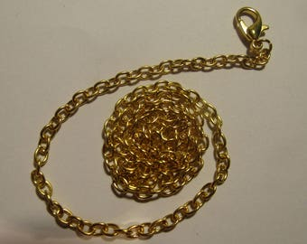 gold chain 42cm with lobster clasp