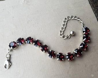 Burgundy Swarovski Bracelet