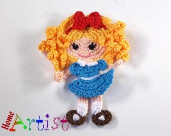 Goldilocks  Crochet Applique