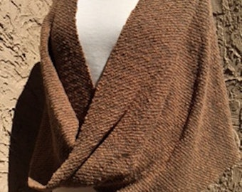 Hemp and Wool Mobius Poncho