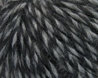 Peru Alpaca Worsted Yarn Black & Grey #48911 Ice Merino Wool Alpaca Acrylic 50g 98y