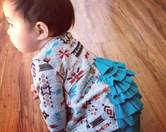 Flyaway Ruffle Cardigan, NB-24m  and 2-7 bundle