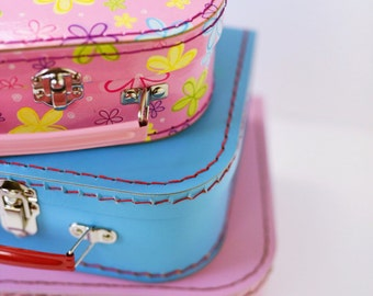 Paper Suitcases | Three Size Options | Three Color Options | Party Favor | Party Decor