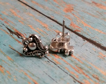 TierraCast DUCHESS Earring Post, Tierra Cast Silver Plated Pewter Charms, Lead Free, Made in USA  (94-1054-12)
