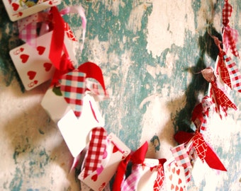 Valentines Day Alice in Wonderland Style Bunting