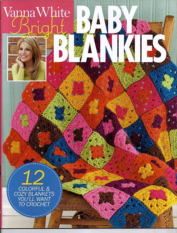 Vanna White Bright Baby Blankies To Crochet Pattern Book Soho