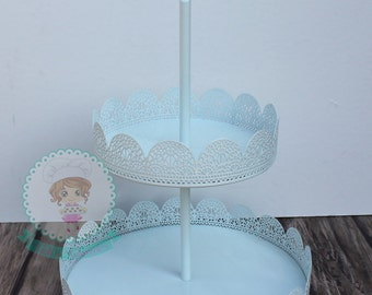 2 Tier Eyelet Treat Stand, Eyelet Cupcake Stand, Treat Display