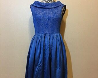 Vintage Blue Dress | Vintage 1950s Dress