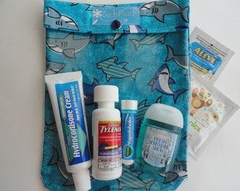 Shark Ouch Pouch Clear First Aid Case for Sports School Diaper Bag/Purse School Travel Organizer Shark Week Large 6x8 Boy Beach Camp