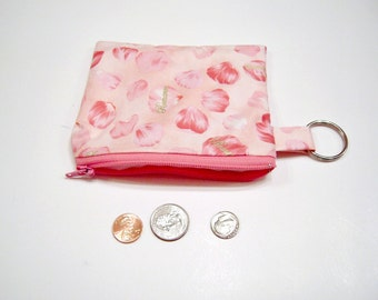 Coin Pouch in Pink Flower Petals