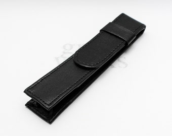 Black Leatherette Single Pen Case