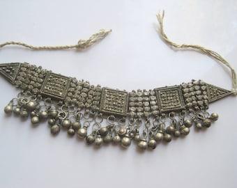 Vintage Bedouin Necklace - Yemeni Choker Necklace - Tribal Jewelry - Ethnic Jewelry