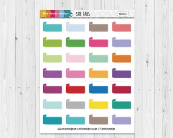 Side Tab Sticker Tags | Planner Stickers | 18031-03