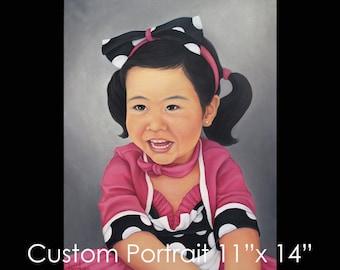"""11""""x14"""" Custom Portrait - Oil on Canvas by Maria Burd"""