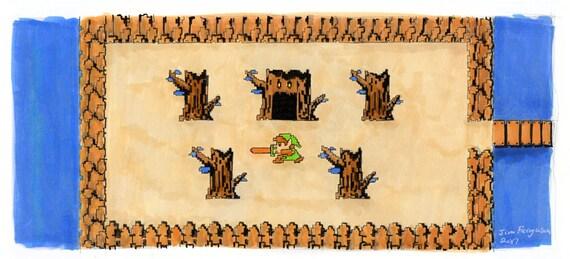 Legend of Zelda  - Deku Tree Print
