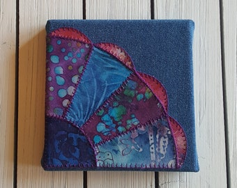 Vintage Style Fan Applique Embroidery